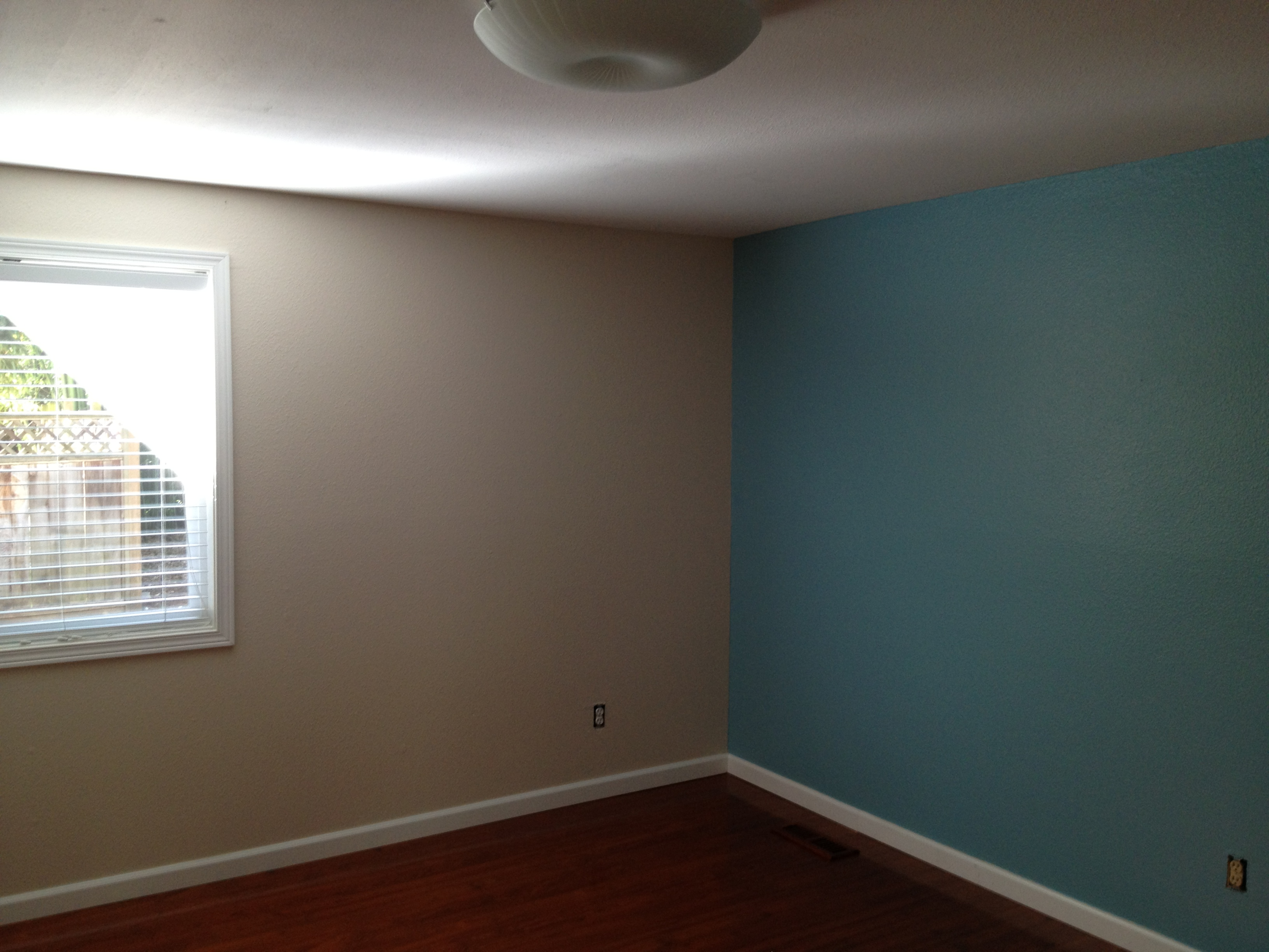 Blue Accent Wall Master Bedroom
